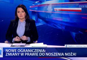 TVP1 Zmiany w prawie do noszenia noży.