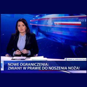 TVP1 - Nowe ograniczenia. Zmiana w prawie do noszenia noży.